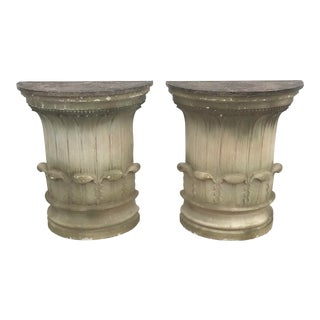 Pr Column Form Plaster Consoles For Sale