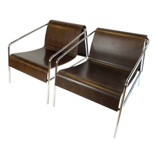 Modern Italian Bent Plywood Lounge Chairs- A Pair For Sale