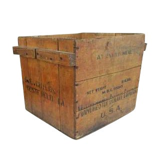 Antique Manchester Biscuit Company Wood Crate Box For Sale