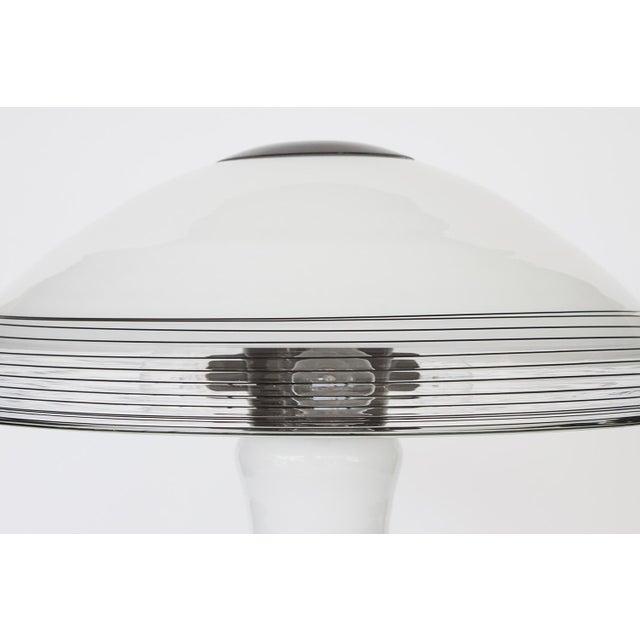 Italian Black and White Murano Swirl Glass Table Lamp - Image 7 of 10