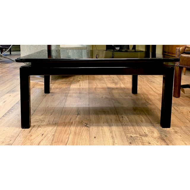 Mid Century Italian Black Lacquered Float Top Coffee Table For Sale - Image 10 of 10