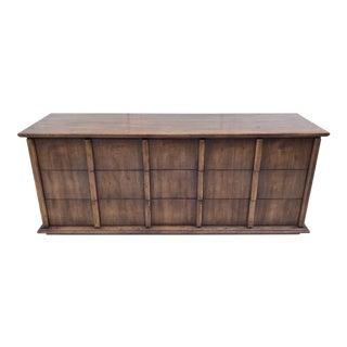 Mid-Century Modern Henredon Wood Dresser For Sale