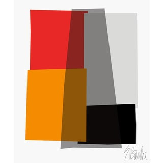 """Red Collage Fine Art Print 25"""" X 30"""" by Liz Roache For Sale"""