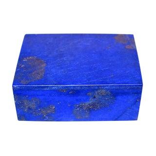 Natural Lapis Lazuli Lidded Box For Sale