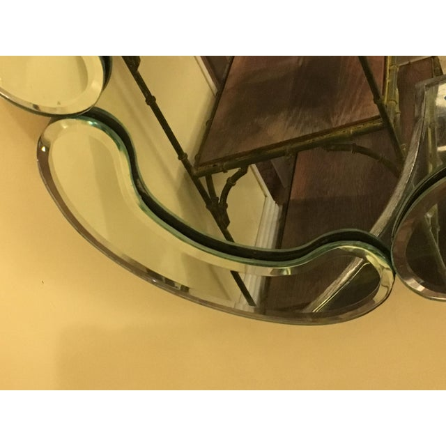 Hollywood Regency Venetian Style Over Mantle or Console Mirror For Sale - Image 3 of 8