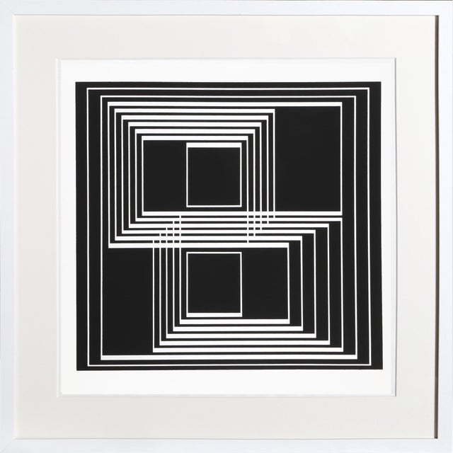 Josef Albers - Portfolio 1, Folder 33, Image 1 Framed Silkscreen For Sale