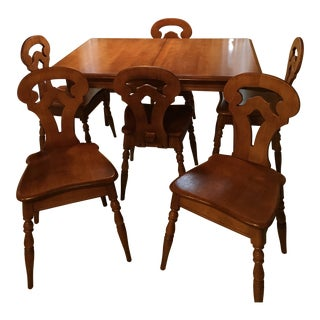 Solid Maple Colonial American Style Dining Set