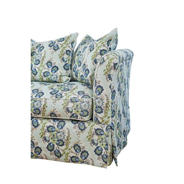 Custom Sofa in Ferrick Mason's Heather - Soft Jade For Sale - Image 4 of 6