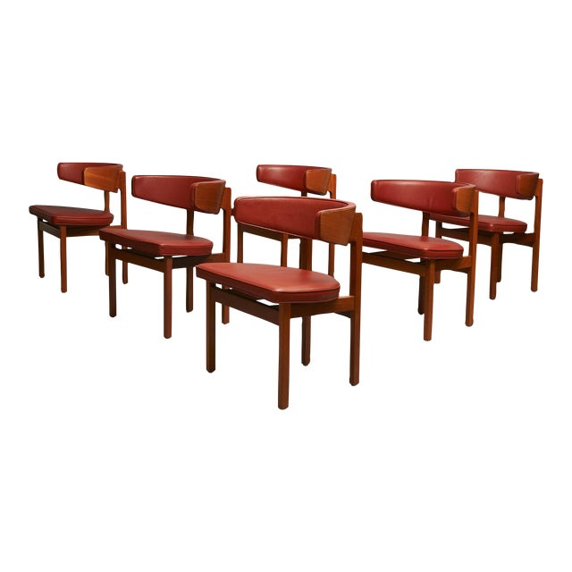 Borge Mogensen set of 8 Dining or Conference chairs For Sale