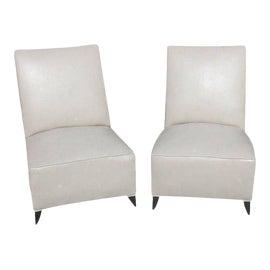 Image of Vinyl Slipper Chairs