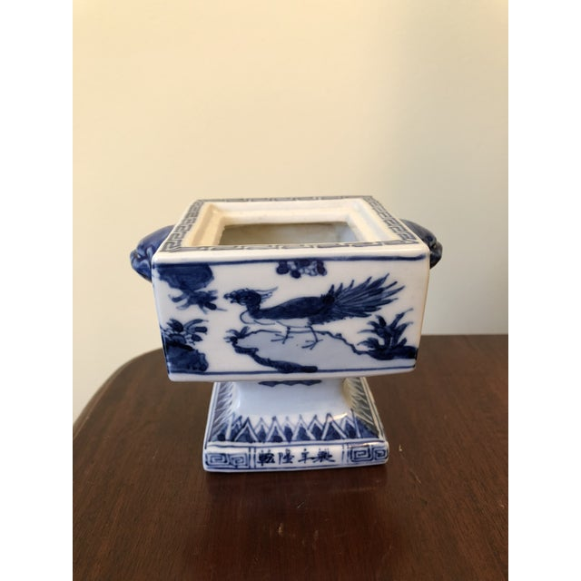 Fine Antique Chinese Blue and White Foo Dog Handles Ginger Jar, Signed 1711-1799 For Sale - Image 9 of 9