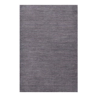 Hand Knotted Simple Dark Gray Field Rug - 8' X 10'
