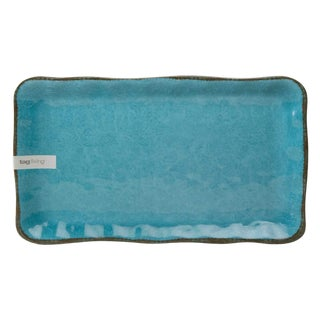 Modern Turquoise Blue Melamine Tray For Sale