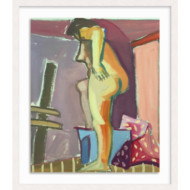 "1950s Original Bay Area Figurative Movement Gouache Painting ""Backside"" For Sale In New York - Image 6 of 6"