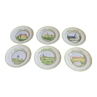 Vintage Longchamp Hors d'Oeuvre Plates - Set of 6 For Sale