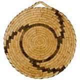 Image of Vintage Papago Coiled Basket Plaque For Sale