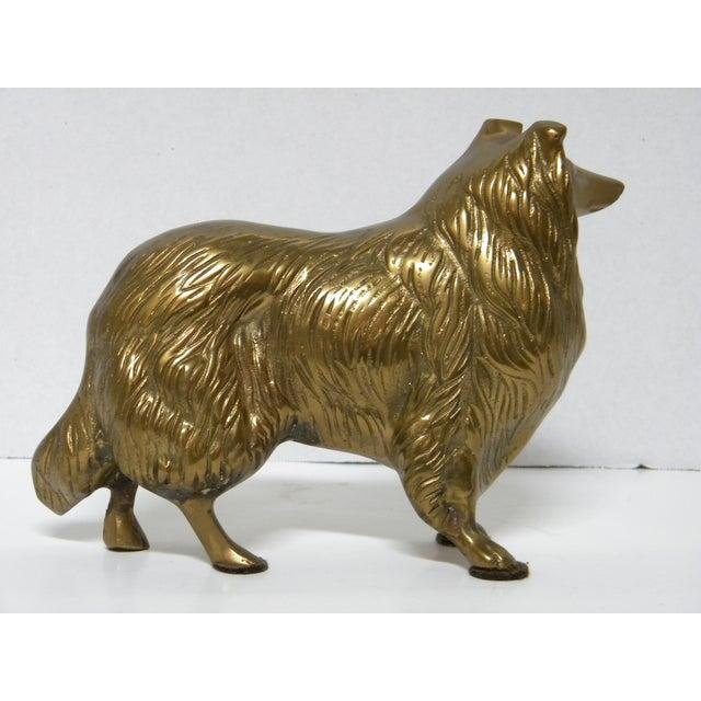 Vintage Brass Sheltie For Sale - Image 4 of 4