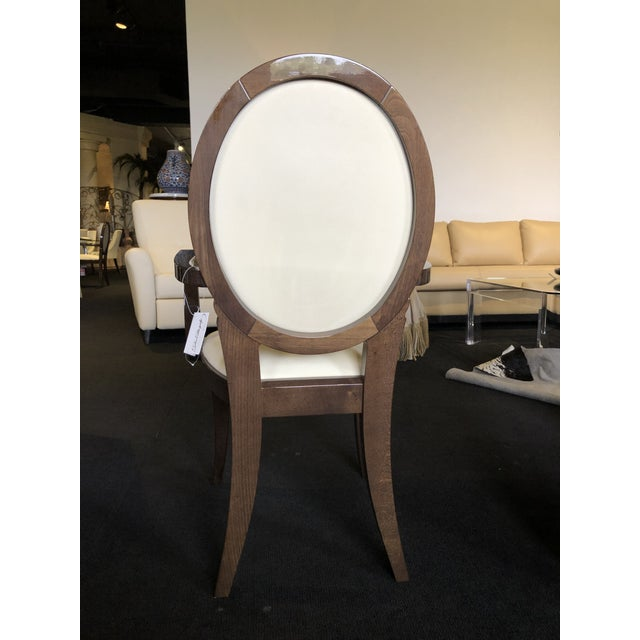 Wood Modern Ultra Suede Ello Italian Chairs - Set of 6 For Sale - Image 7 of 13