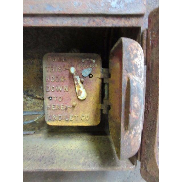 Antique Original Fire Alarm Call Edward Box For Sale - Image 4 of 6