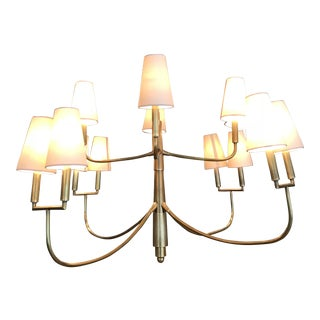 Visual Comfort Farlane Large Brass Chandelier For Sale