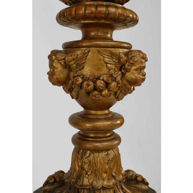 Mid 19th Century Pair of 19th C. French Louis XVI Style Gilt Carved Pedestals For Sale - Image 5 of 10