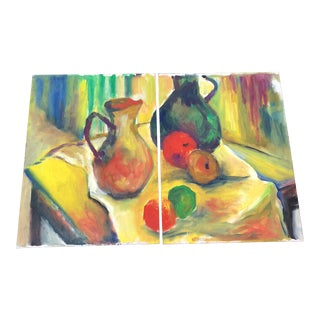 1980s Impressionist Original Oil on Canvas Boards by Anne Newbold Perkins - a Pair