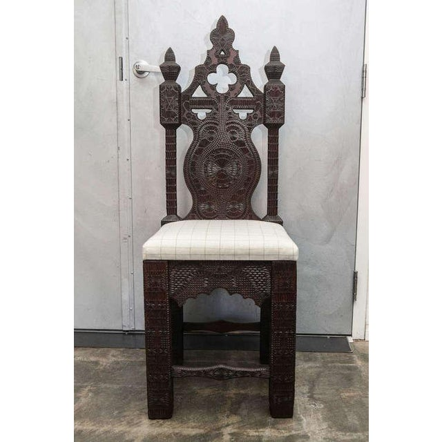 19th Century Turkish Carved Wood Chair - Image 7 of 7