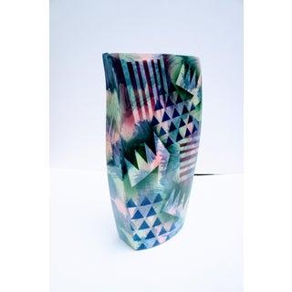 1990s Vintage Memphis Style John Bergen Ceramics Studio Organic-Shaped Pottery Vase Preview