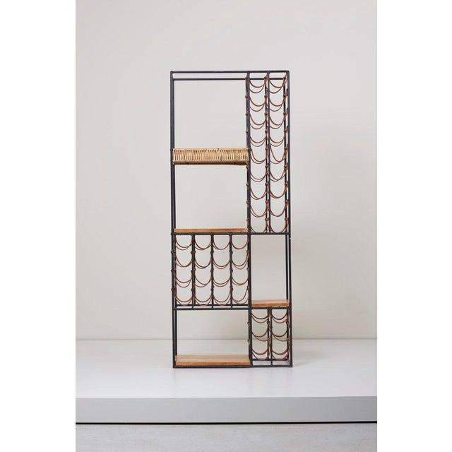 1950s Wrought Iron Wine Rack by Arthur Umanoff for Raymor , Us, 1950s For Sale - Image 5 of 8