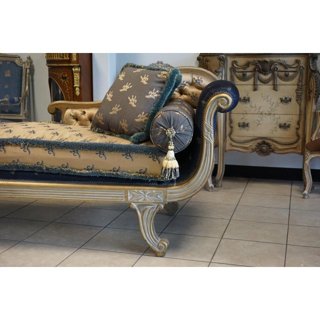Vintage Hand Carved Chaise Lounge - Image 5 of 11