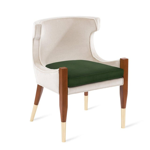Not Yet Made - Made To Order Vaughn Side Chair in Cream Mohair For Sale - Image 5 of 5