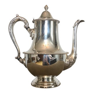 20th Century American Classical Benedict Period Silver Plate Coffee Pot For Sale