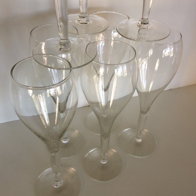 Crisa Hand Blown Crystal Tulip Style Champagne Glasses - Set of 8 For Sale - Image 9 of 13