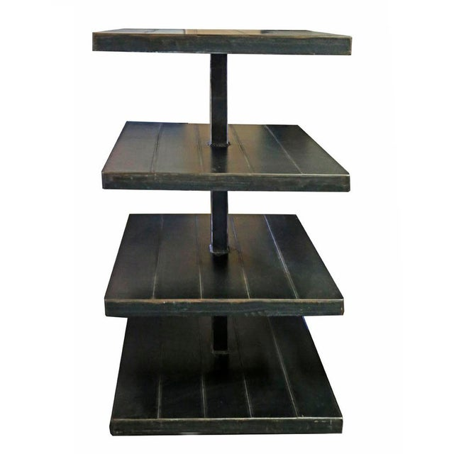 Contemporary Black Metal Shelves - A Pair For Sale - Image 3 of 4