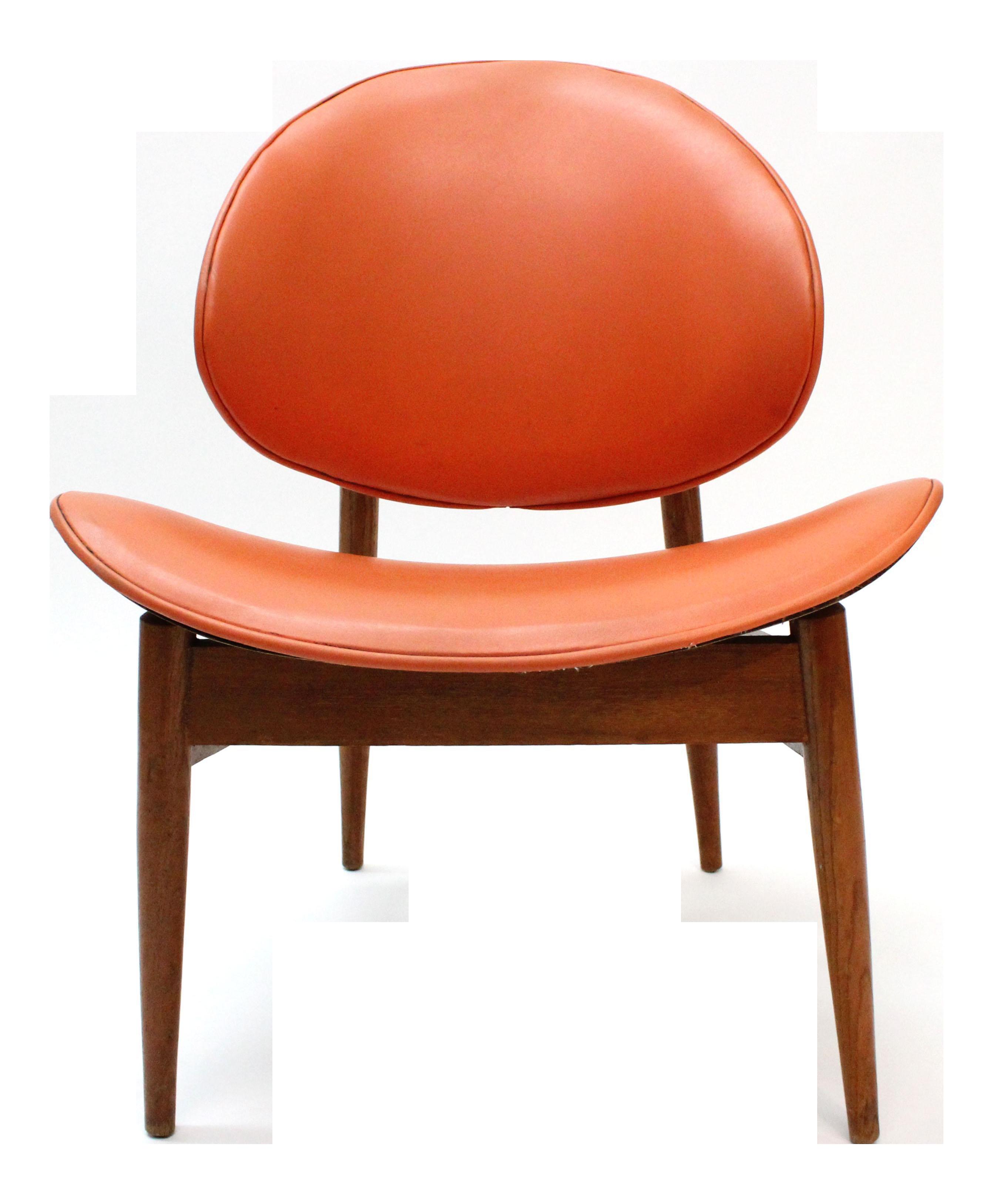 Charming Vintage Seymour James Wiener Kodawood Clam Shell Chair