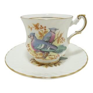 Vintage Porcelain Queens Bone China, England Cup & Saucer