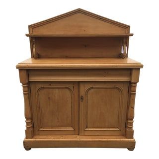 1980s Country Irish Pine Cabinet For Sale