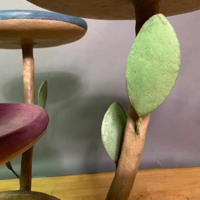 Resin French Artist Designed Polychrome Resin Plant Stand For Sale - Image 7 of 11