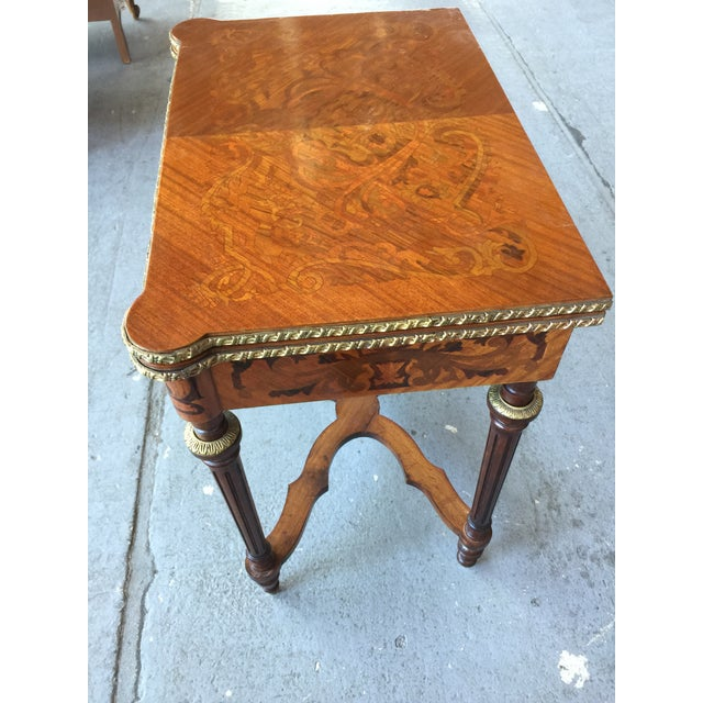 1970s Louis XV Style Flip Top Game Table For Sale - Image 5 of 11
