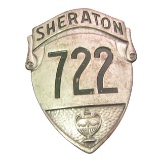 1930s Vintage Boston Sheraton Hotel Security Badge