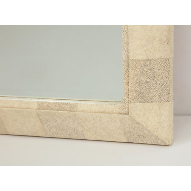 1990s R & Y Augousti Mirror With Shagreen Frame For Sale - Image 5 of 10