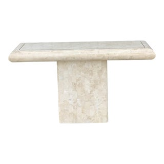 Tessellated Stone Tile Console Table For Sale