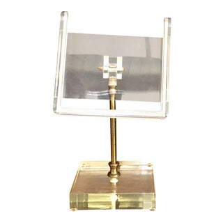 Mid Century Modern Acrylic/Lucite Photo/Card Holder For Sale