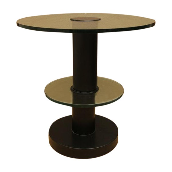 Fontana Arte Gio Ponti Design Round Side/End Table For Sale