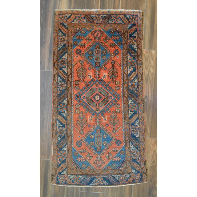 "Antique Persian Heriz Rug - 3' x 5'7"" - Image 2 of 11"