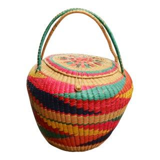 Color-Burst Woven Basket