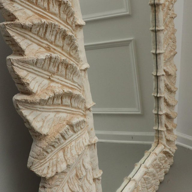 1970s Tropical Palm Tree Leaf Wall Mirror For Sale - Image 5 of 8
