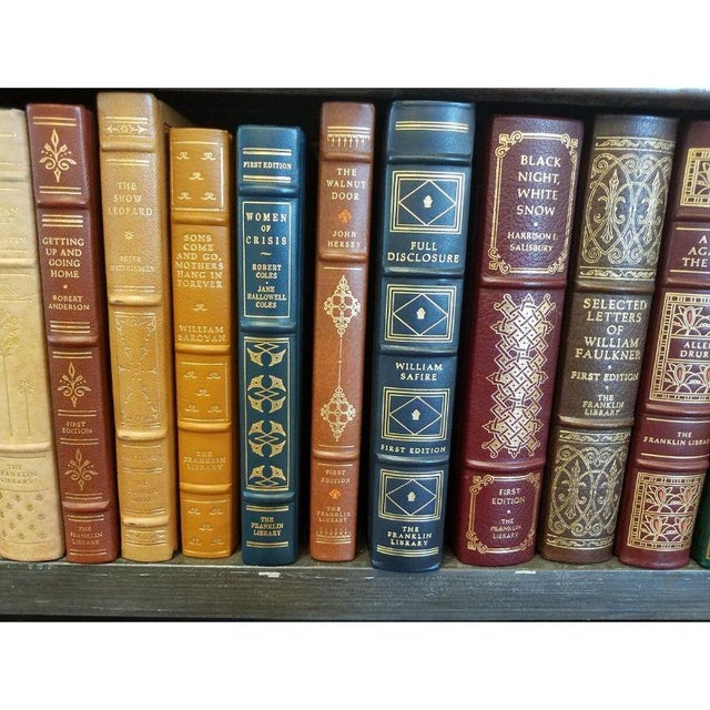 Metal Collection of Franklin/Eaton Vintage Leather Books - Set of 40 For Sale - Image 7 of 8