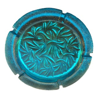 Aqua Blenko Ashtray