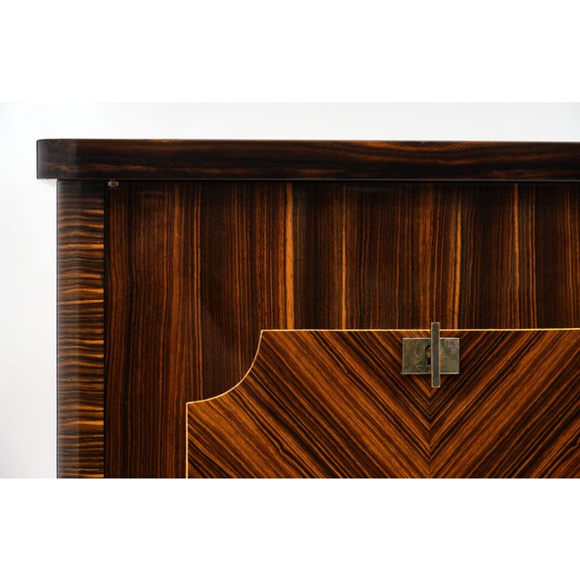 Macassar of Ebony French Vintage Buffet For Sale In Austin - Image 6 of 12